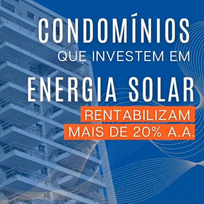 condominios rentabilizam com energia solar