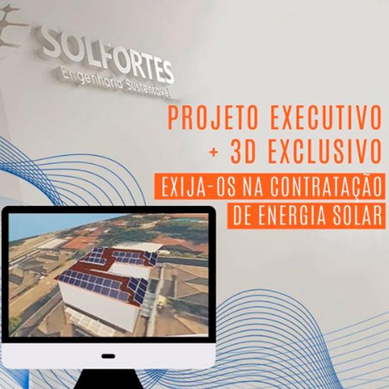 exija projeto 3d executivo para sua instalação solar